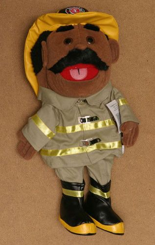 "14"" Firefighter Glove Puppet White"