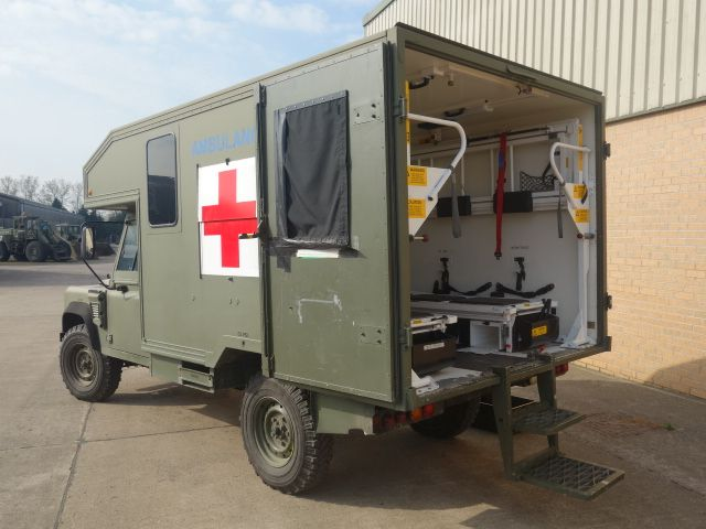 Land Rover 130 Defender Wolf RHD Ambulance - Search_Result_By Description - L.Jackson and Co » For Ex Army Trucks Specialist Military vehicles, Ex. Mod Sales and Nato plant and equipment for sale and export