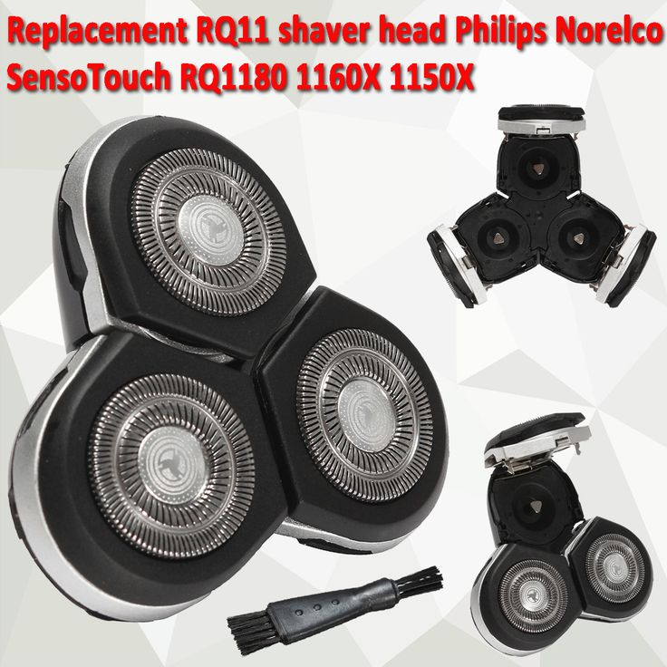 Replacement RQ11 Shaver Head for Philips Norelco SensoTouch RQ1180 1160X 1150X Razor with Brush