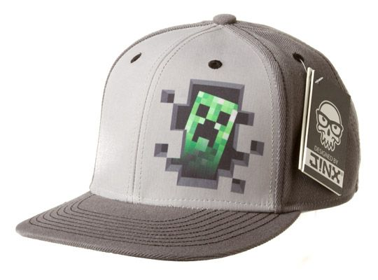 J!NX : Minecraft Creeper Inside Snap Back Hat - Clothing Inspired by Video Games & Geek Culture. coolest hat ever!