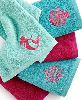 Disney Bath Accessories, Little Mermaid Shimmer and Gleam 5 Piece Washcloth Set