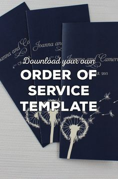 Free Wedding Order of Service Wording Template - Download your own guide to writing your wedding programs