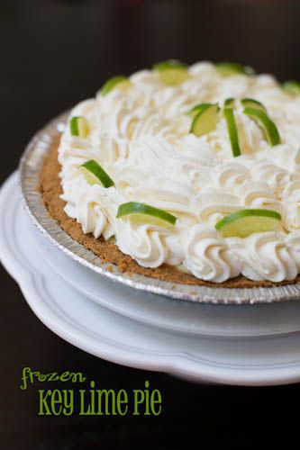 Frozen Key Lime Pie...adapted from the Barefoot Contessa