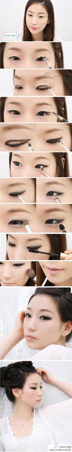 smokey black eyes for asian eyes. I have not asian eyes, but for my friends :)