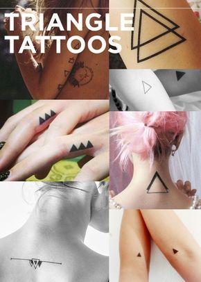Tatuagem de Triângulos | Os 13 tipos de tatuagens que todos nós queríamos em 2013