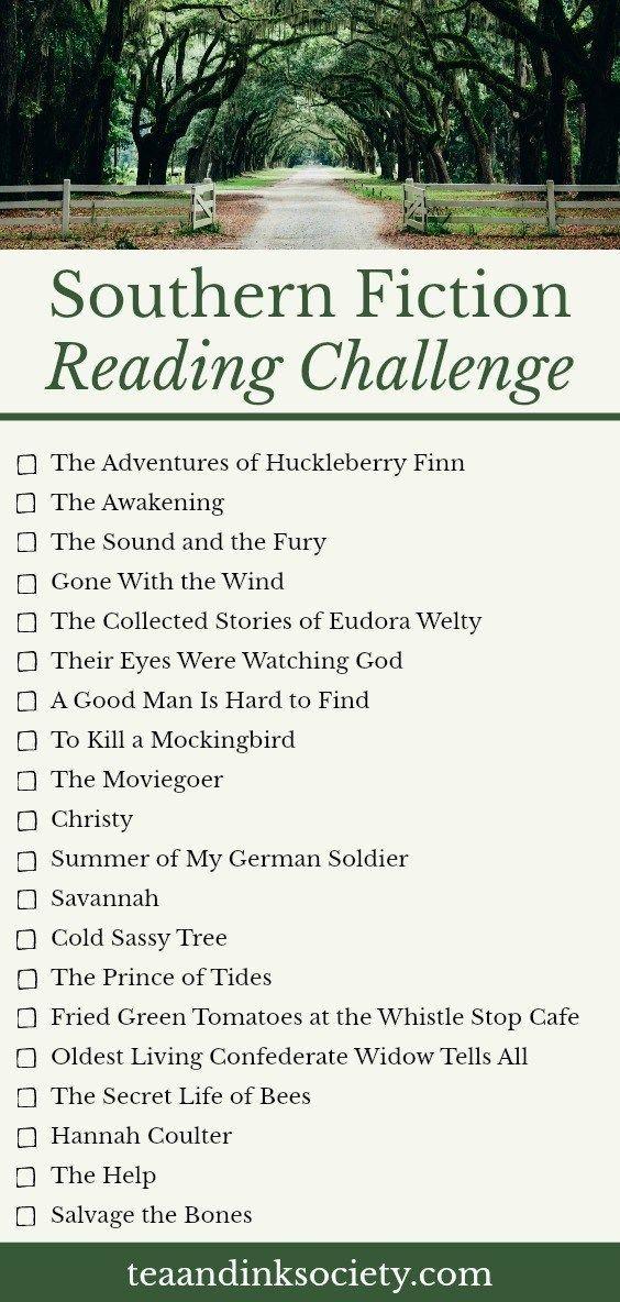 Southern Fiction Reading Challenge