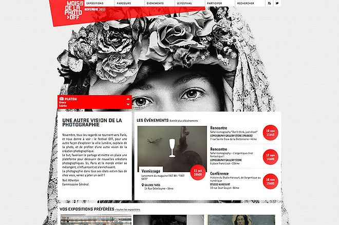 Mois de la photo-OFF 2012 - CoolHomepages Web Design Gallery