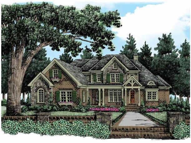 This is my favorite house plan of all time.  I might change the way the front looks, but the floor plan is the BEST ever!
