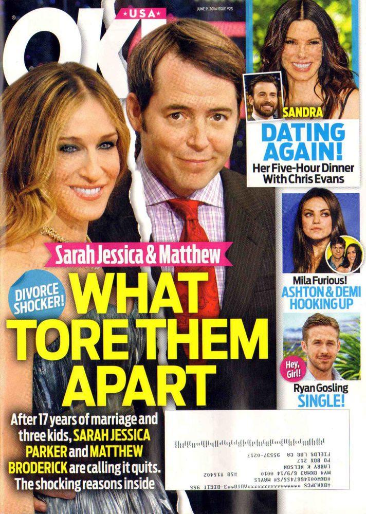 OK MAGAZINE JUNE 9 2014 RYAN GOSLING SARAH JESSICA PARKER SANDRA BULLOCK MATTHEW
