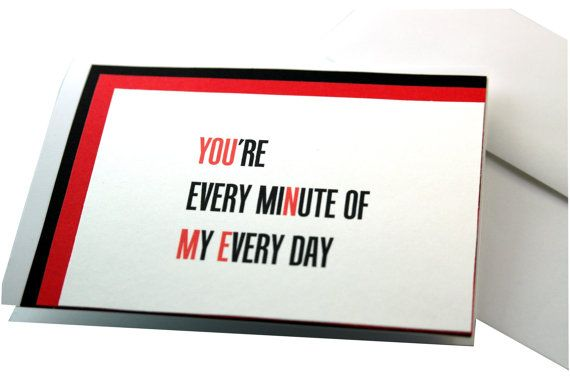 Handmade Valentine Card Valentines Day Card by ecoPaperie on Etsy, $3.00