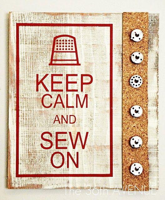 Keep calm and sew on