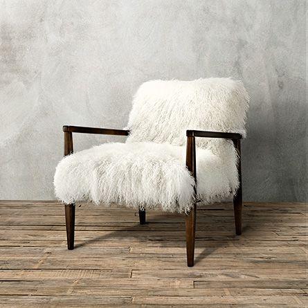 Tansy Chair In Tibetan Ivory Sheepskin Arhaus Furniture