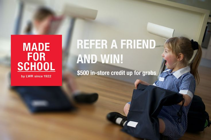 Let us dress your kids for school in 2016.  Refer a friend and go in the draw to win $500 in-store credit.  The link is in the blog, don't miss out - Natalie