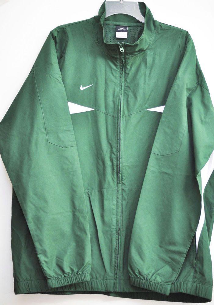 NIKE MEN FIELD JACKET STAY DRY Green  Solid 100% Polyester size 2XL NWT #Nike #Rainwear
