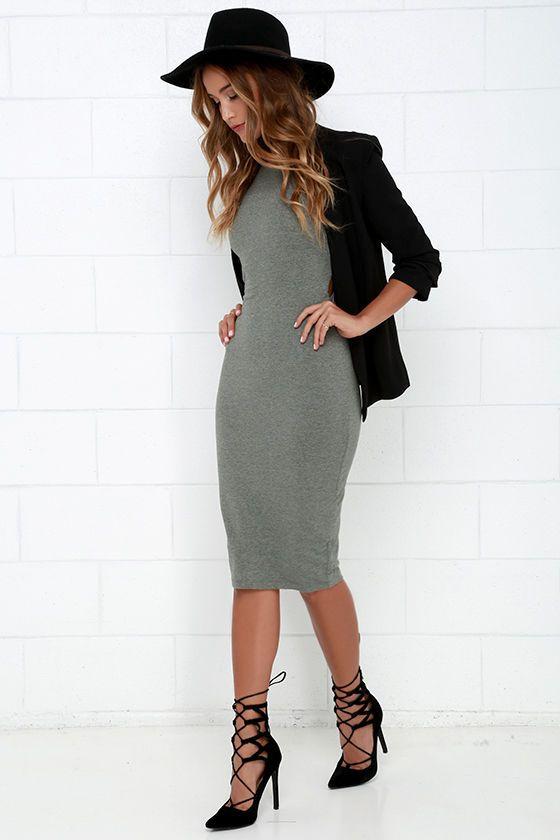 What I Got Heather Grey Bodycon Dress at Lulus.com!