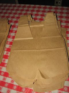 western themed banquet - paper bag vests
