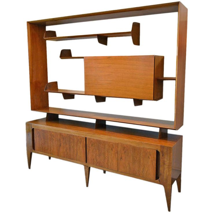 outstanding gio ponti sideboard with bar by singer and sons sons bar and gio ponti. Black Bedroom Furniture Sets. Home Design Ideas