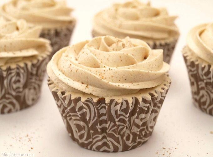 Cupcakes de arroz con leche y buttercream de canela - MisThermorecetas