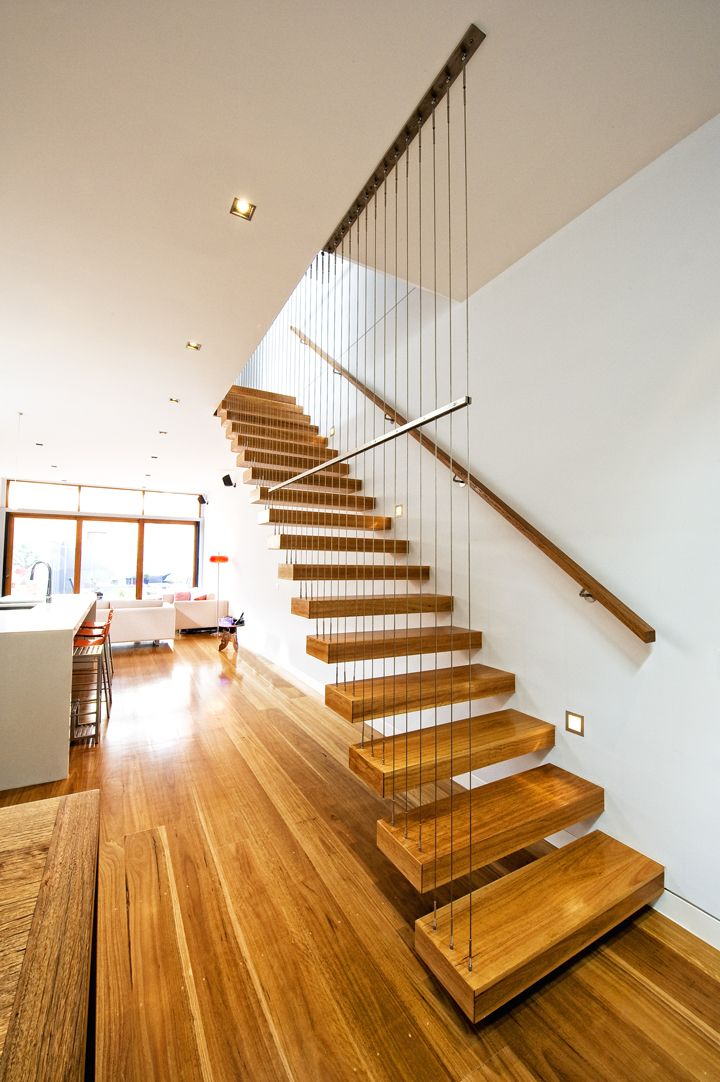 Cantilevered Feature Stair Staircase Victorian Ash