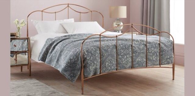 Colette copper bed frame. Next