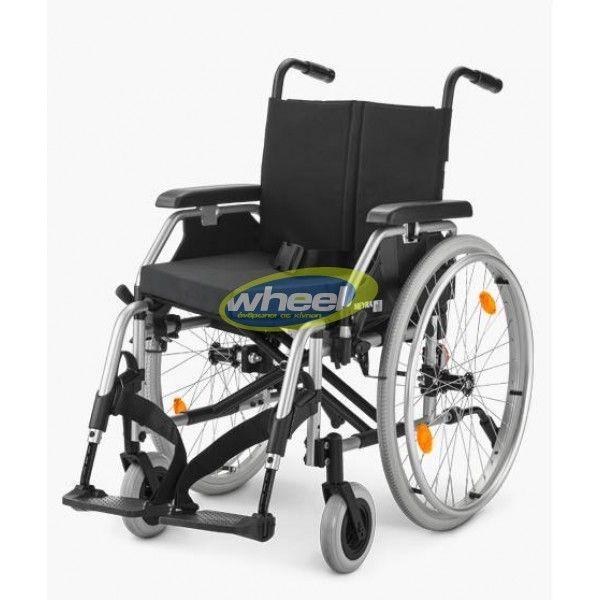 Eurochair II - Ένα ελαφρού τύπου καθημερινό αναπηρικό αμαξίδιο. Ελαφρύ, πτυσσόμενο, προσφέρει ασφάλεια στο maximum. Ιδανικό για κέντρα αποκατάστασης και κλινικές.