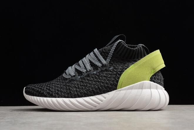 low price d1a22 5ee43 WMNS adidas Tubular Doom Sock Primeknit Carbon/Black-Yellow ...