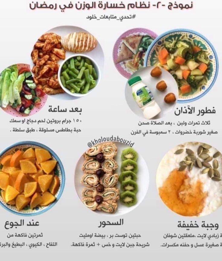 نظام غذائي لفقدان الوزن في رمضان التخسيس في رمضان Healty Food Health Facts Food Healthy Fitness Meals