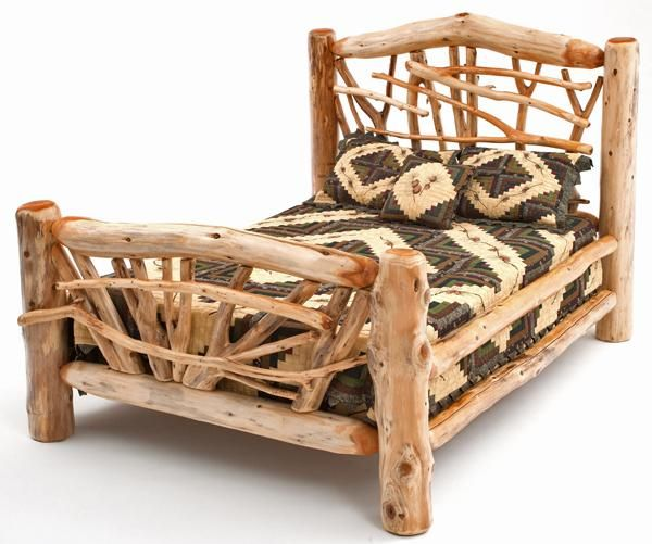 7 best Log Furniture Beds images on Pinterest | Rustic bedrooms ...