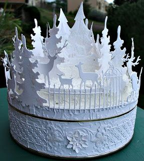 La Città di Carta: Bosco invernale bianco II - Weisser Winter wald II...