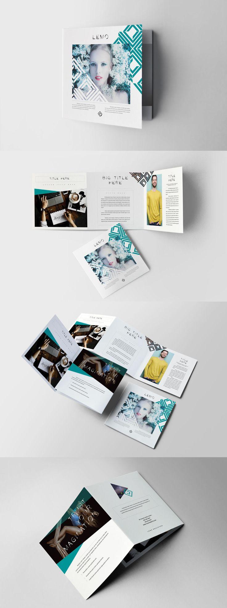 square trifold brochure template indesign indd brochure templates pinterest. Black Bedroom Furniture Sets. Home Design Ideas