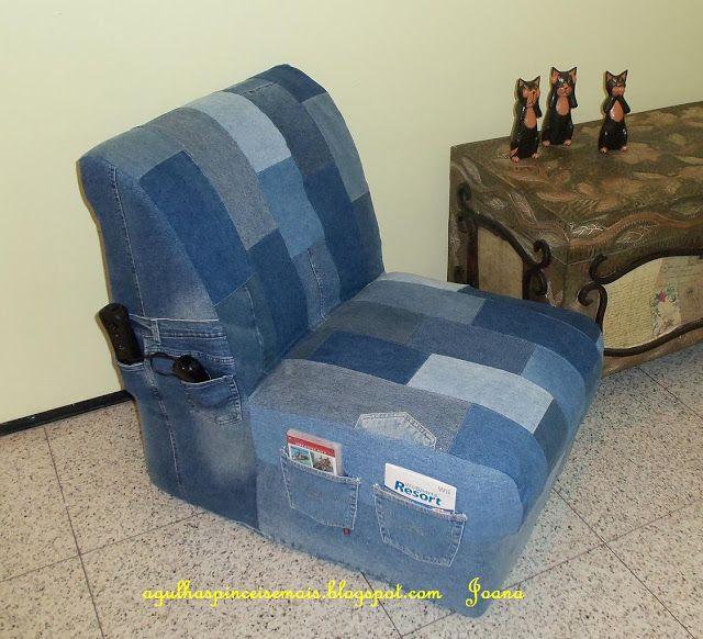 Agulhas E Pinceis Capa De Poltrona Com Cal 231 As Jeans