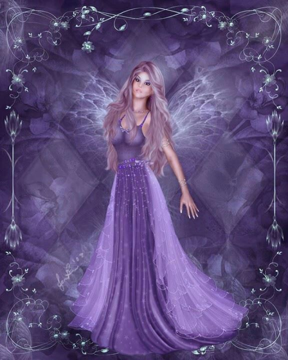 Fairy in purple  Beautiful.!!!