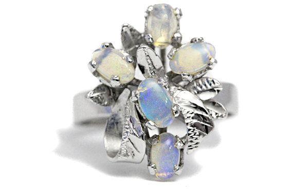 Australia Opal Ring Engraving Rhodium Silver by Tezsahcom https://www.etsy.com/listing/498238680/australia-opal-ring-engraving-rhodium?ref=rss