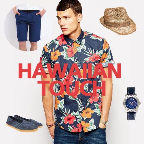 Ηawaiian touch!  #summer #menfashion #style