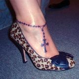rosary tattoo -- I want to get one similar to this on my ankle