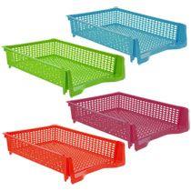 Bulk Essentials Rectangular Stackable Plastic Paper Trays at DollarTree.com
