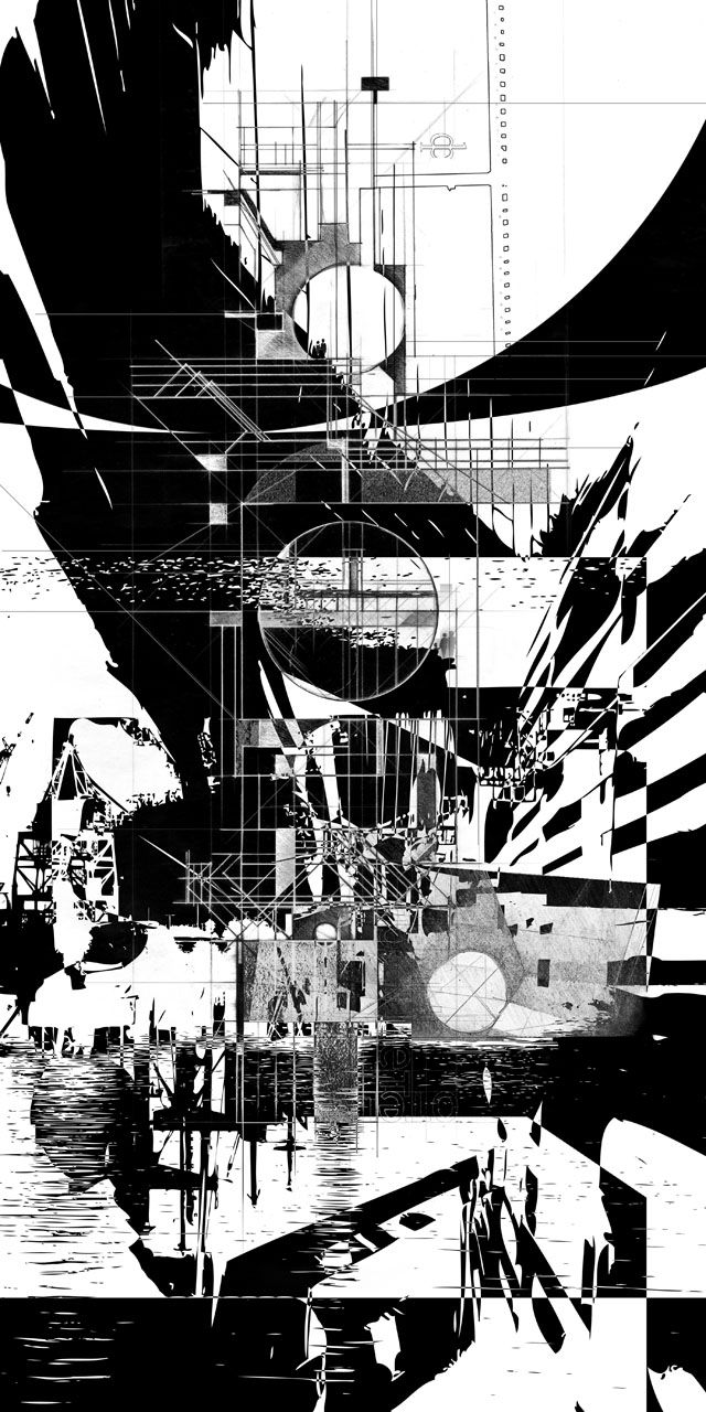 """Joshua L Jones, USF School of Architecture, Class of 2011 Class: """"A House for Two Orphans"""" - Spring 2011, Dr. Levant Kara Architectural drawing of Eisenstein's The Return."""
