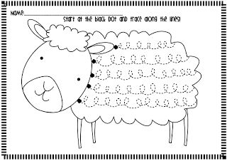 Frog Spot: Spring Lamb Handwriting Freebie Great way to work loops for getting ready for cursive.