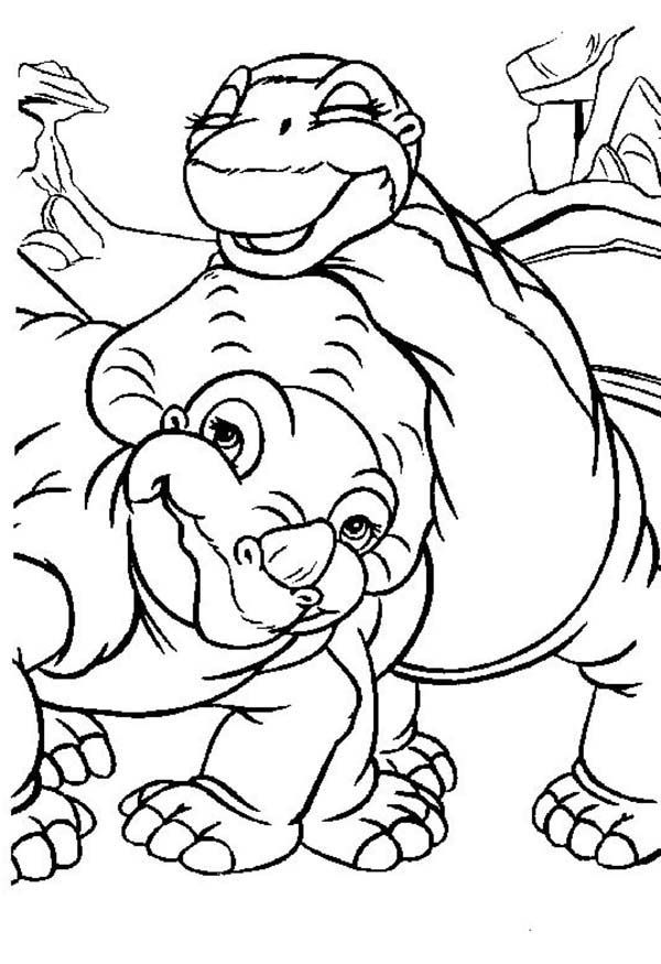 land before time cera and little foot land before time coloring page - Land Before Time Free Coloring Pages