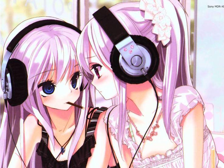 Cute Girl Headphone Anime Listening Music Hd Wallpaper Anime Music ...