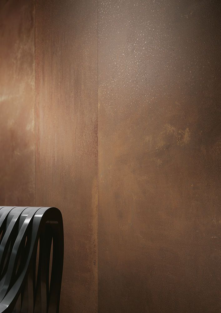 Indoor tile / floor / wall-mounted / porcelain stoneware - KERLITE METAL : CORTEN - COTTO D'ESTE