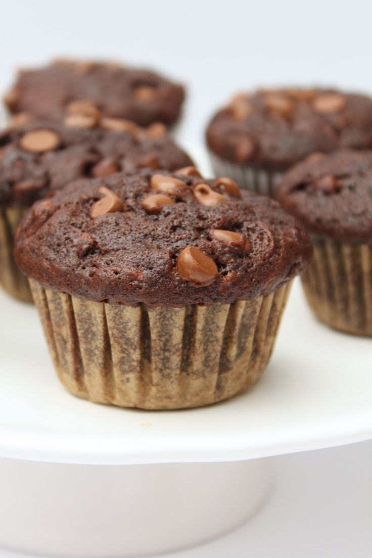 The Busy Baker: Double Chocolate Zucchini Muffins #FoodieMamas