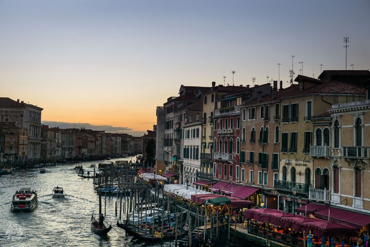 Traffic On the Canal Grande in Venice