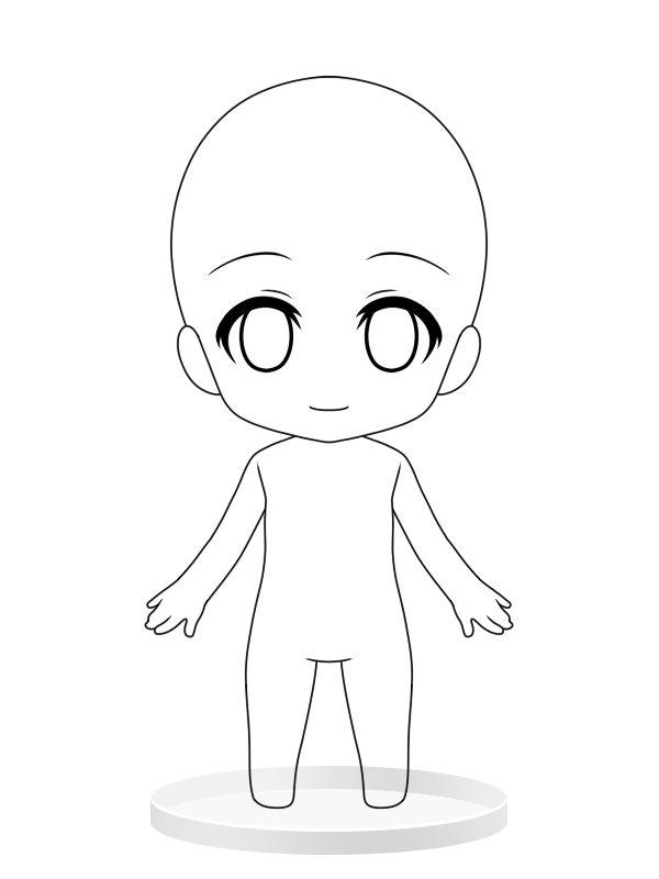 Chibi girl base drawing pinterest chibi girls and for Manga character template