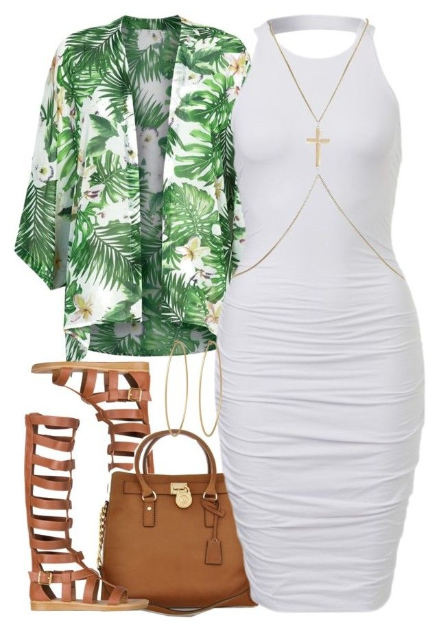 """""""Untitled #1317"""" by power-beauty ❤ liked on Polyvore featuring Fashion Union, Qupid, Michael Kors, River Island and Social Anarchy"""