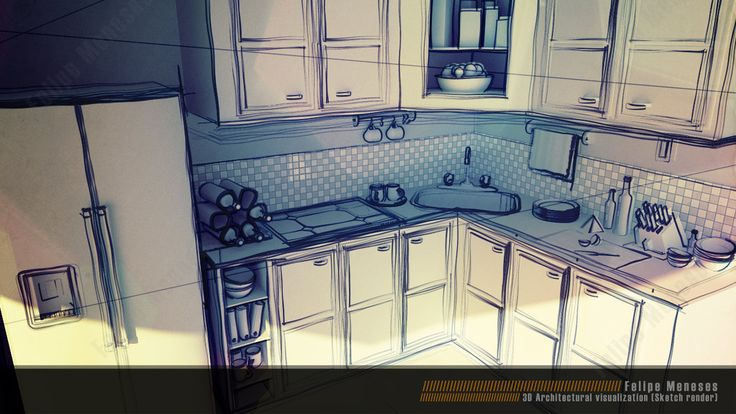 Interior Design Sketches Kitchen Introduction Kl Daily Interior