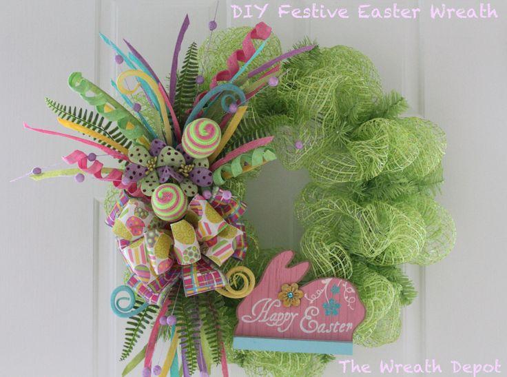 DIY Mesh Festive Easter Wreath