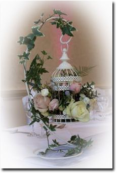 A beautiful hanging birdcage for a vintage wedding