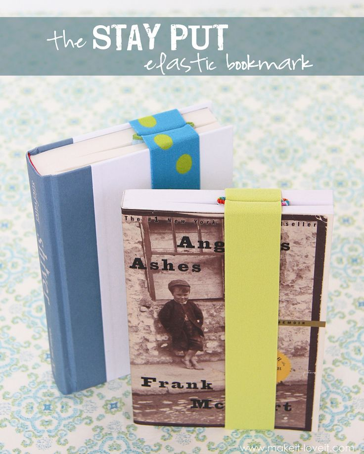 The 'STAY PUT' Elastic Bookmark….{never lose your place again!}