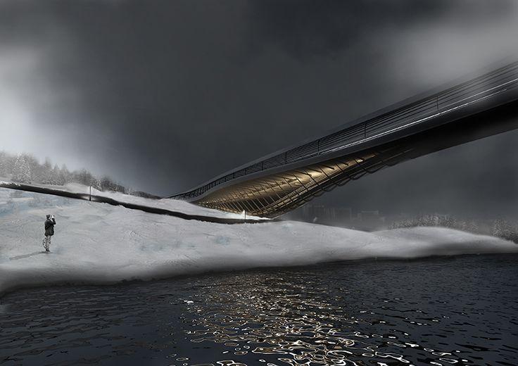 Istanbul Beylikduzu Bridge Design by MELIKE ALTINISIK ARCHITECTS with Elif Erdine